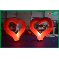 Nylon Cloth Giant Lighting Led Inflatable Decoration ,  Led heart for Party Stage Manufactures