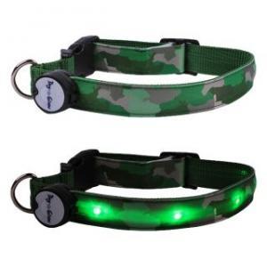 White LED Flash Large Dog Collar Manufactures