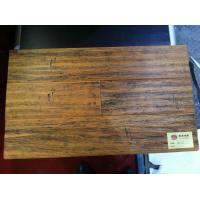 Hot selling strand woven bamboo flooring with hand-scraped suface Manufactures