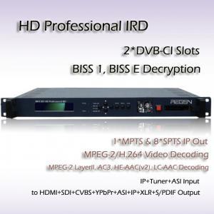 China HD Professional IRD ATSC TO ASI UDP/IP Decoder SDI HDMI CVBS Video Output RIH1301 on sale