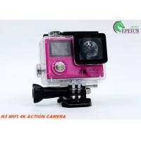 Dual Screen Ultra 4K Wifi Action Camera H3 2.4G Remote Wireless Helmet Camcorder Manufactures