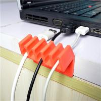 Orange Households Products Cable Drop Clip Plastic Cord Divider For USB Line Manufactures