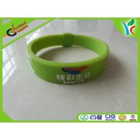Healthy Green Silicone Balance Bracelet , Light Rubber Energy Wristband Manufactures
