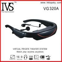 72inch head mounted video eyewear with AV input, connect with PS3, WII Manufactures