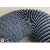PVC Coated Fiberglass Fabric 150MM HVAC Flexible Air Ducts 10M Grey 260℃ Manufactures