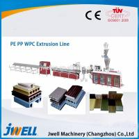 Jwell hot sale PE & PP wood plastic composite extrusion line Manufactures