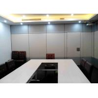 Mordern Office Sliding Partition Wall , Sliding Wall Dividers Robust Aluminium Frame Manufactures