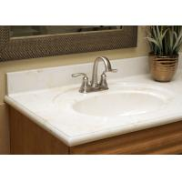 Pure White Artificial Stone Countertops Vanity Tops Bath Tub Montary Brand Manufactures