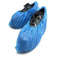 China Blue Disposable Shoe Covers 2 g - 8 g PE CPE Material With Elastic String on sale