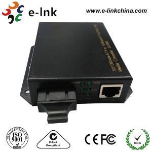 Wall Mounted POE Fiber Media Converter , Ethernet To Optical Fiber Media Converter Manufactures