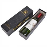 China one bottle red wine packaging box  two pieces lid and base rigid wine box on sale