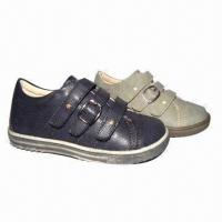 Children's Casual Shoes with Soft PU Upper Manufactures