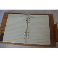 2014 high quality personalized pu leather notebook with logo print