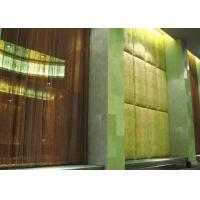 Decorative Metal Mesh Curtains Lightweight For Hotel / Lobby Gold / Gunmetal Manufactures