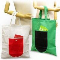 Foldable Shopping Bags, Made 80g/m² Nonwoven Materials, Green Product Manufactures