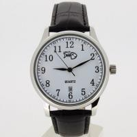 Men Black Leather Strap Watches Manufactures