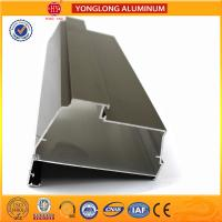 Electrolytic Coated Aluminum Window Profiles Bronze Matte Flat Corrosion - Resistant Manufactures