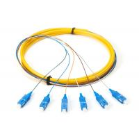 Quality 0.9mm SC / APC 24 Core Optic Patch Cords Fiber Pigtail With 4.0mm Boot for sale