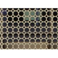 PVDF Coated Aluminum 5052 Laser Cut Perforated Wall Panels 0.3 Mm -3.0 Mm Thick Manufactures
