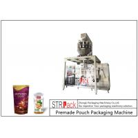 MCU Control Nuts Packaging Machine / Stand Up Pouch Filling Sealing Machine For Peanut Manufactures