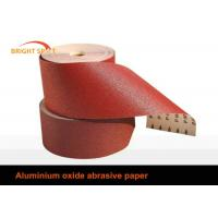 Red Aluminium Oxide Coated Abrasive Cloth Wood Metal Polishing 60 - 800 Grit Manufactures