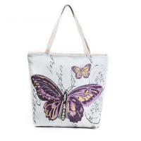 Butterfly Printed Shoulder Bags for Girls , Tote Shopper Bag Manufactures