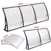 China Windproof Solid Polycarbonate Awning , Polycarbonate Sheet Canopy Heat Insulation on sale