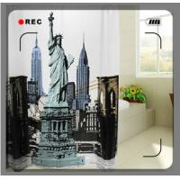 Water repellent Polyester Cute Designed Window Shower Curtain For Bathroom Manufactures