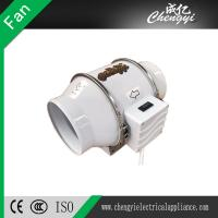 China 4 inch Plastic Inline Duct Fan Pipe Type Ventilation Exhaust Fan for Ceiling Mounted on sale