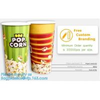 POPCORN PAPER BOX, POPCORN CUP, CHICKEN BOX, CUSTOM BRANDING,24OZ, 32OZ,46OZ,TAKE OUT PACKAGE, KRAFT PAPER CUP, LID, PAC Manufactures