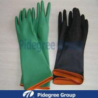 Natural Black Latex Industrial Gloves , Heavy Duty Rubber Gloves Manufactures