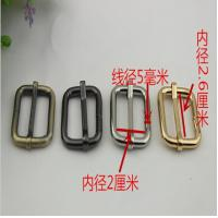 Hot sales hanging brush anti brass color 26 mm iron adjust square ring adjustable buckle for bags Manufactures