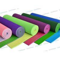 Anti Skid Blue 5mm 6mm PVC Yoga Mat Safe For Beginners Big Guys Manufactures