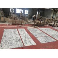 Bespoke 60x60cm Size Natural Stone White Marble Floor Bevel Tiles Manufactures