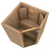 Cedar spa sauna electric , traditional sauna room for weight loss Manufactures