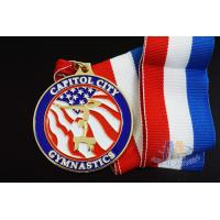 Buy cheap Customized Dancing Running Award Medals With Ribbon , Custom Race Medals from wholesalers