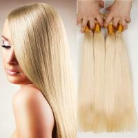 Quality # 613 blonde brazilian hair weft weave remy brazilian honey blonde hair extension for sale