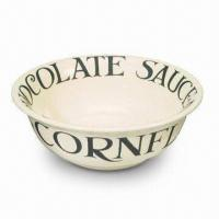 Breakfast Bowl/Cereal Bowl, Made by White Porcelain, Decal Customized Designs and Logos Welcome Manufactures