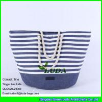 LUDA 2015 promotional fashion paper cloth straw bag Manufactures