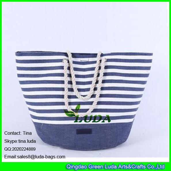 Quality LUDA 2015 promotional fashion paper cloth straw bag for sale