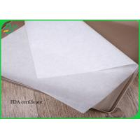 30g - 40g Greaseproof White Color Food Grade Paper Roll For Wrapping Food Manufactures