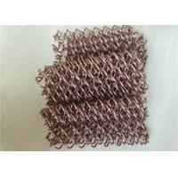 Galvanized Wire Chain Link Curtain , Woven Metal Chain Door Fly Screen Manufactures
