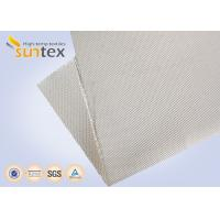 China 12H Satin High Silica Fabric Fiberglass Cloth 1200g Welding Protection Blanket Fire Barrier on sale