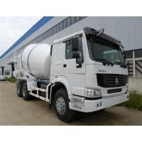 8L Concrete Construction Equipment / 9m3 Concrete Mixer Truck With Pump Self - Loading Manufactures