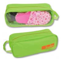 600D Polyester Shoe Storage Travel Bag Slippers Packaging With Transparent PVC Window Manufactures
