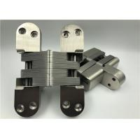 China High Hardness Heavy Duty Invisible Hinge With Satin Nickel Surface on sale