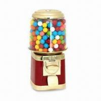 China Round Gumball Machine with Adjustable Bulk Candy Wheel, Made of Shatter-resistant Polycarbonate on sale