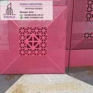 China SUDALU Interior/ Exterior Decoration Laser Cut Aluminum Cladding Wall Panel on sale