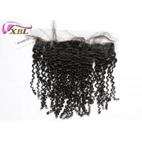 Raw Curly Ear To Ear Lace Frontal Brazilian Virgin Hair Closure For Black Women Manufactures