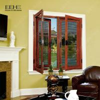 China Red Aluminum Double Glazed Windows / Buildings Aluminum Double Pane Windows on sale